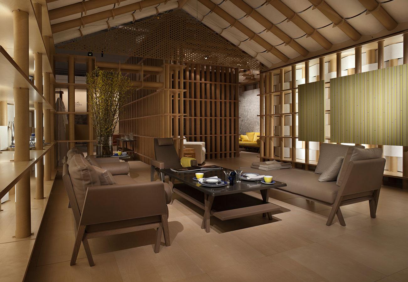 Pavillon hermes maison jean de gastines for Architecture maison design